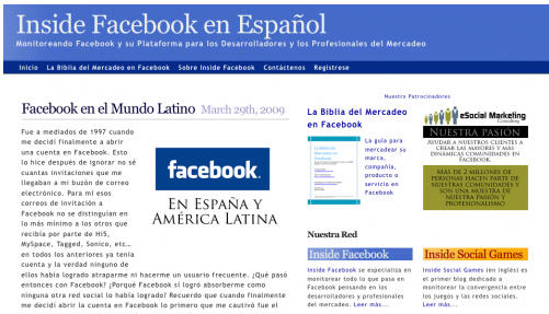 Inside Facebook en Español Launches