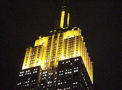 Empire State Buildling Mango Yellow