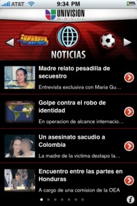 Univision iPhone App Screenshot
