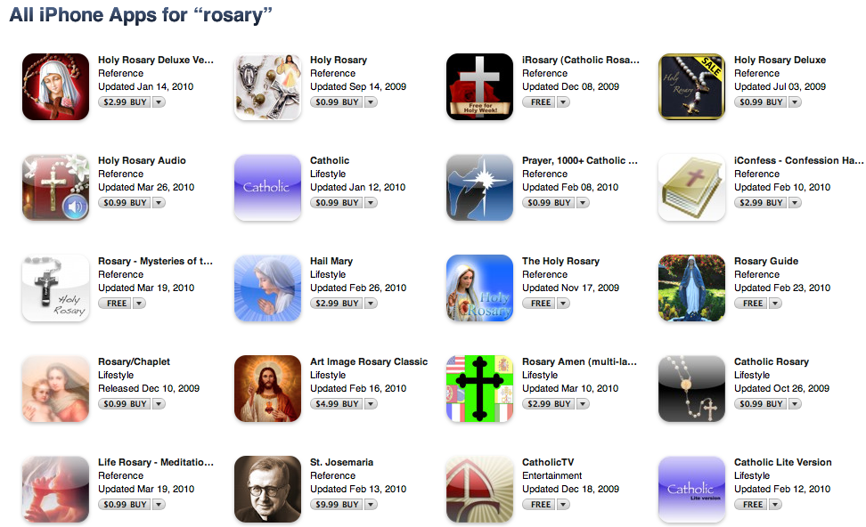 Rosary iPhone Apps