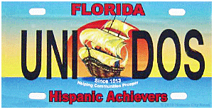 Florida Hispanic Achievers License Plate
