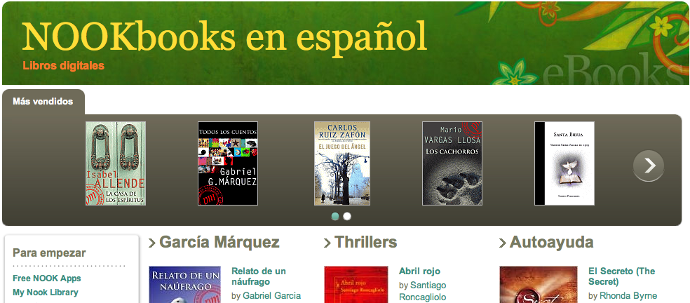 Barnes & Noble Spanish books
