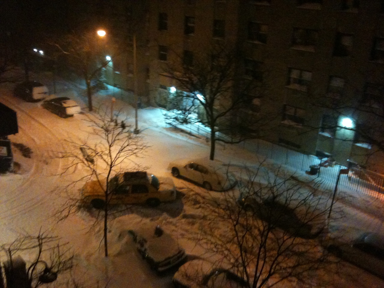 NYC Taxi Stuck in Holiday Blizzard