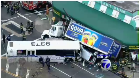 Goya Truck Accident Queens