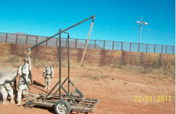 Drug Catapult Mexican Border