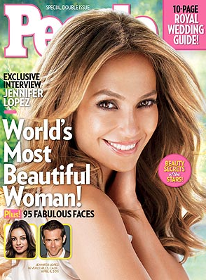 J-Lo World's Most Beautiful Woman People Magazine Jennifer Lopez