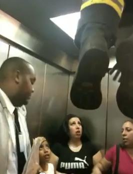 Subway elevator rescue Washington Heights New York City