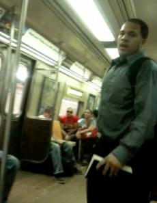 Video: Wannabe A Train Preacher clashes with pregnant Puerto Rican; places curse on Train