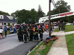 HouseFire Long Island Saturday 300x223 Live Updates: Hurricane Irene Photos and Videos