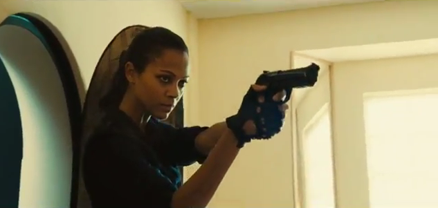 Watch out Angelina; Zoe Saldana can kick Ass in Colombiana
