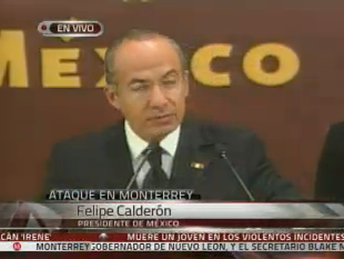 Watch Live: Mexico President Felipe Calderon address the Casino Murders