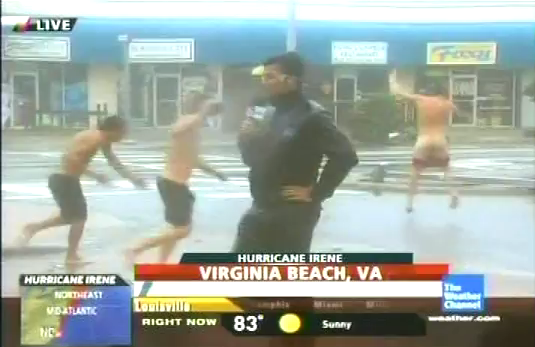 Video: Hurricane Irene Streaker on The Weather Channel