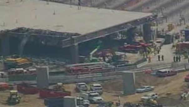 San Ysidro Border Crossing Collapses on Two Cars