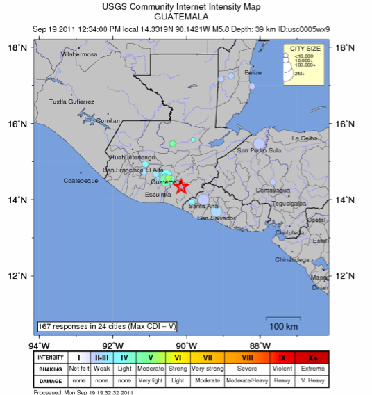 Temblor Guatemala Earthquake