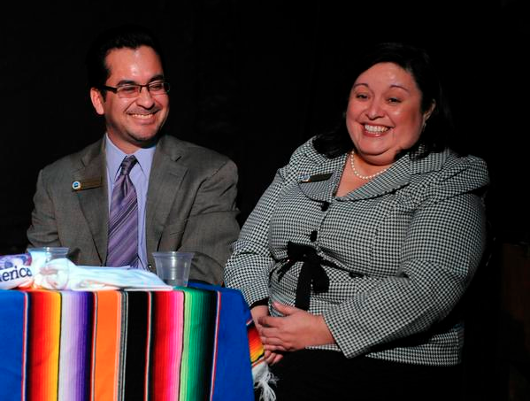 Arturo Jimenez, left, and Andrea Merida, right, credit: Denver Post