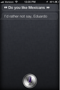 Screen shot 2011 10 26 at 10.58.20 PM 200x300 Does the iPhone 4S Like Mexicans? Siri can Answer that Question, too