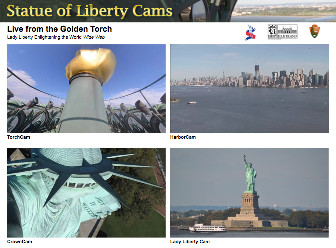 Statue of Liberty Celebrates 125th Annivesary; Launches Webcams