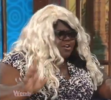 Wendy WIlliams Hairpiece Theatre with Gabby Sidibe