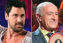 WorldView Video: Dancing With The Star's Maks Chmerkovskiy plant a kiss on Len Goodman's cheek