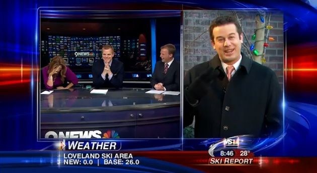 "WorldView Video: News Reporter Congratulates Anchorwoman's ""Hooters"""