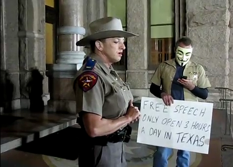 Video: Occupy Austin's 3-Hour Free Speech Time Limit Is Up