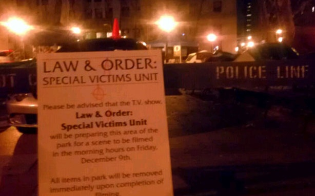 "WorldView Video: Occupy Wall Street Protesters Mockuppying ""Law and Order: SVU"" Set"