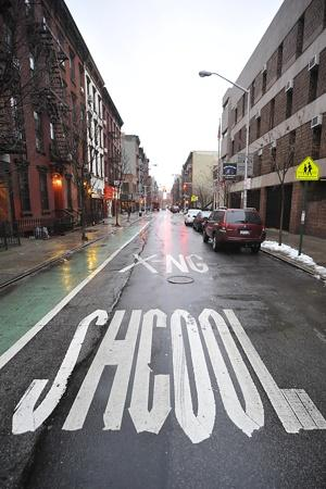 School Crossing Spelling Mistake New York