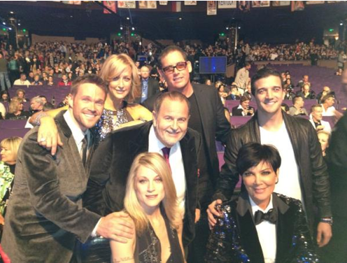 @MissAmericaOrg @KrisJenner @MarkBallas @RealChrisPowell @fleissmeister @LaraSpencer and Teri Polo in Vegas Photo: Twitter.com