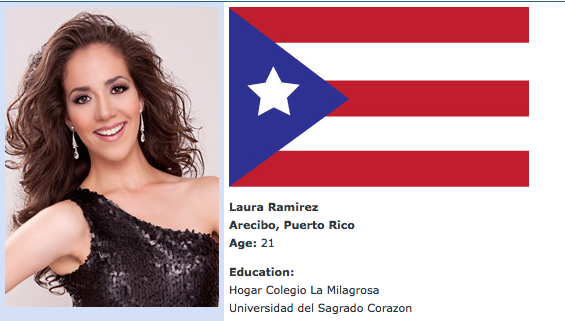 Hasta La Vista! Miss Puerto Rico, Laura Ramirez, Eliminated from 2012 Miss America Pageant