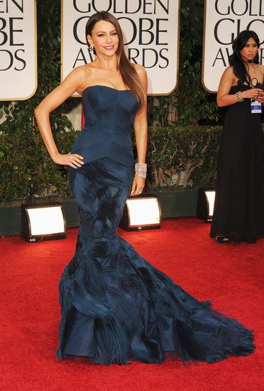 Sofia Vergara Vera Wang Dress Pictures Golden Globes 2012 Sofía Vergara at the Golden Globes 2012
