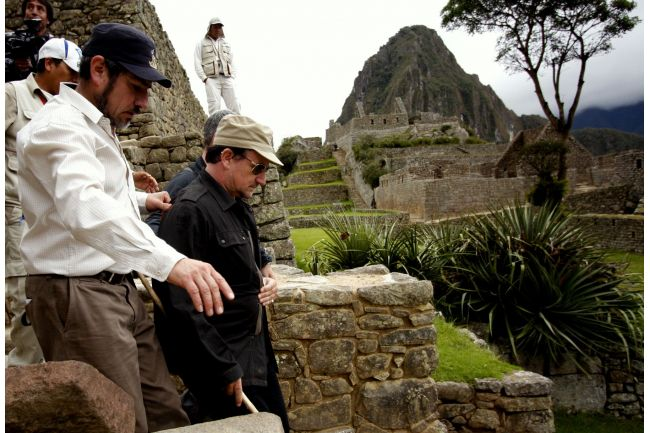 20120227012650bOct WorldView: Bono tours Machu Picchu