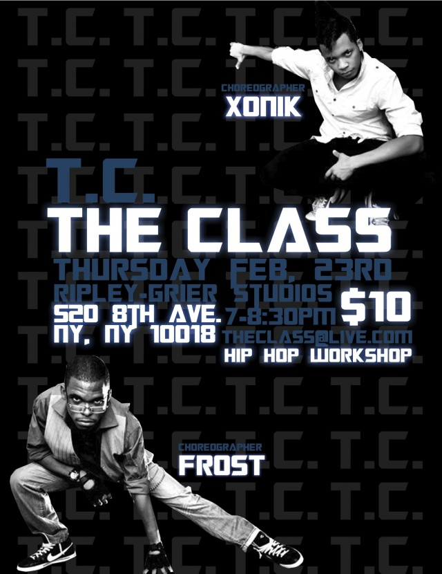The Class Flyer 640x830 custom The Class NYC Hip Hop Workshop this Thursday