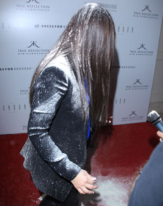 WorldView: Kim Kardashian Gets Pelted With Flour On Red Carpet