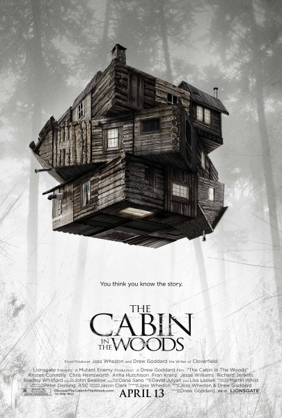 cabin in the woods poster hi res 405x600 WorldView: The Cabin in the Woods Official Trailer