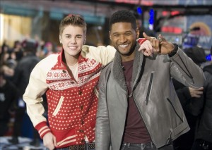 Justin Bieber and Usher Concert in New York City .