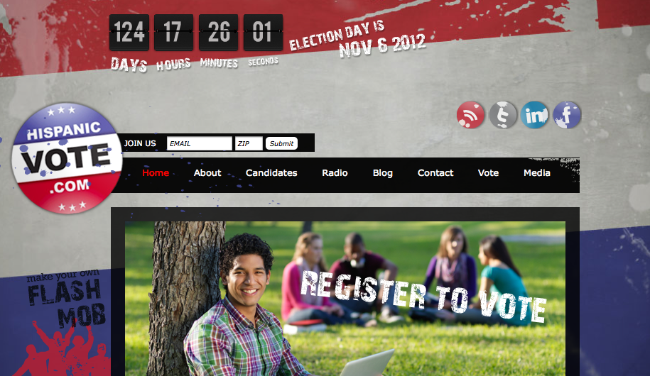 HispanicVote.com Annouces New Partnerships to improve Voter Registration