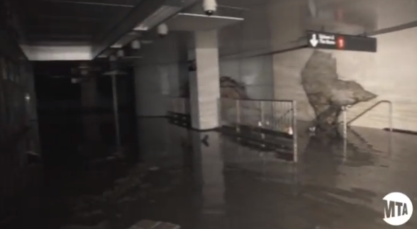 Flooded NYC MTA Subway Video WorldView: Inside Look at Flooded No. 1 Train Station