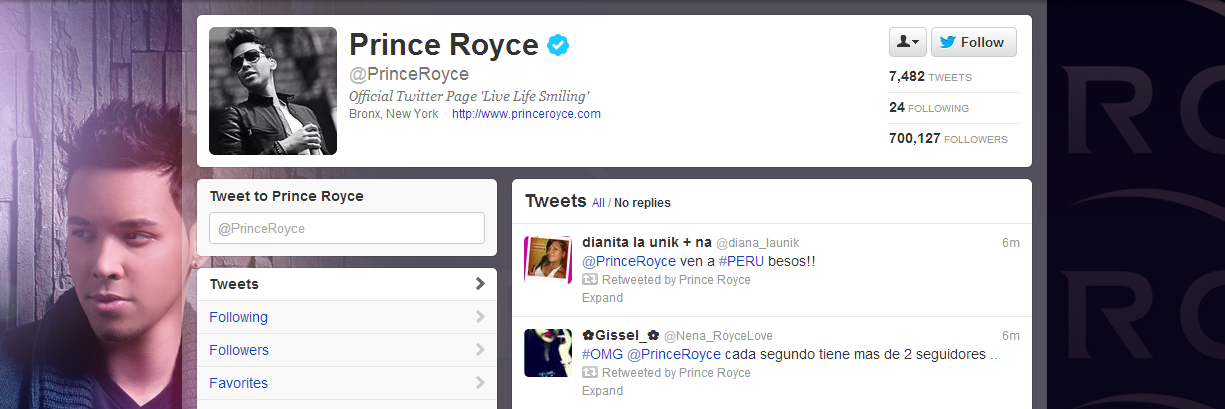 Prince Royce Passes 700K Twitter Followers