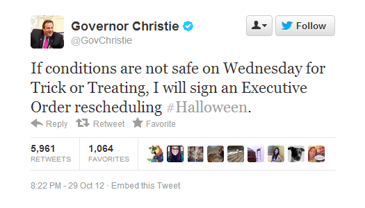 Twitter   GovChristie  If conditions are not safe ...
