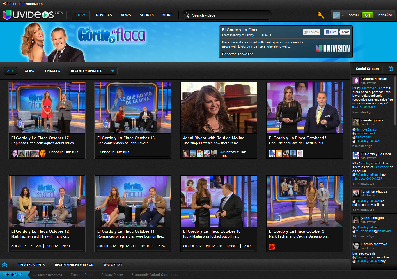 "Univision Launches ""UVideos"" Online On-Demand Video Network with ..."