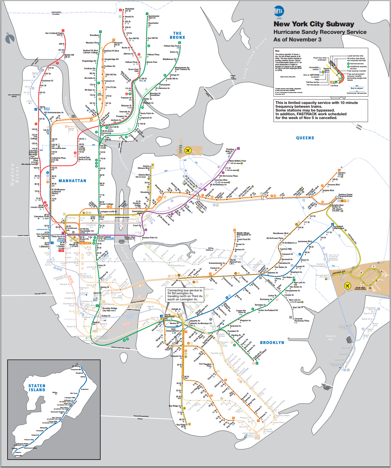 Updated NYC Subway Map November 3