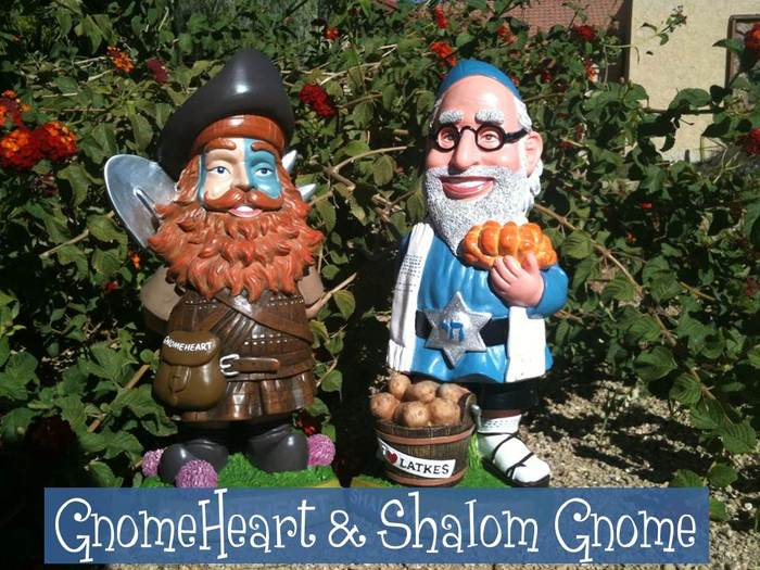 Shalom Gnome and GnomeHeart