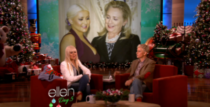 Christina Aguilera Talks To Ellen
