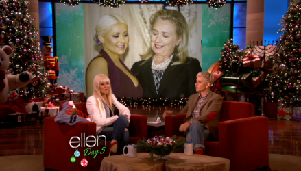 Christina Aguilera Talks To Ellen About Lotus and Hillary Clinton's Gaze on her 'Breasteses'
