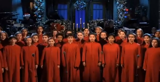 SNL Children's Choir Opens Show with 'Silent Night'