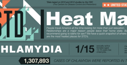 STD Heat Map infographic