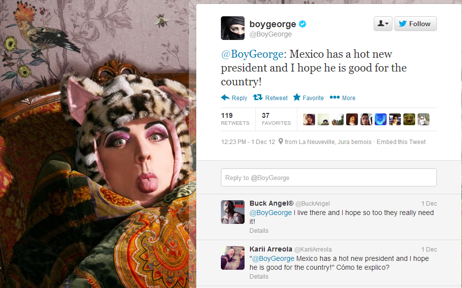 Twitter BoyGeorge Mexico has a hot