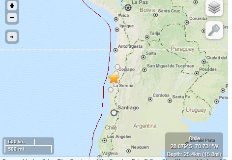 Magnitude 6.7 Earthquake in Northern Chile