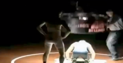 Huge Light Fixture Falls on High School Wrestler YouTube