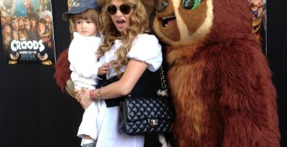 Paulina Rubio & Son Enjoy Weekend Movie in Miami